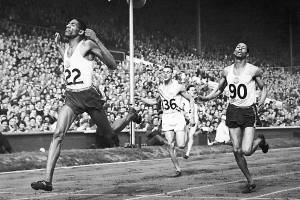 Jamaican sprinter, Herb McKinley at the 1948 Olympic Games in Berlin