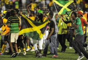 Jamaicans celebrate record win against the USA in CONCACAF World Cup Qualifiers, 2012