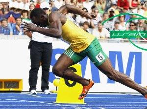 Usain Bolt - longtime fan of Boston Celtic's Kevin Garnett.