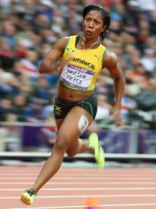 Jamaican Olympic gold medalist, Shelly Ann Fraser -Pryce