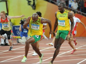 Jamaican sprinters - Usain Bolt and Asafa Powell