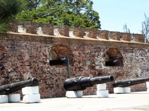 One of the forts at Port Royal where pirates defended their base from invasion.
