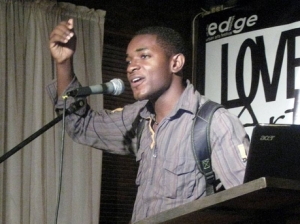 Performance Poet, Randy McClaren. Photo Credit - Jamaica Gleaner.