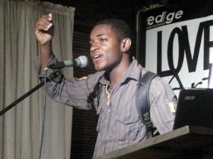 Performance Poet, Randy McClaren. Photo Credit - Jamaica Gleaner.