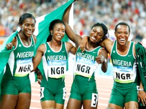 Nigerian female athletes at the London Olympics. Photo Credit - Premiumtimesng.com