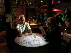 Anthony Bourdain with Island Records boss, Chris Blackwell.  Photo Credit - ZPZ Productions.
